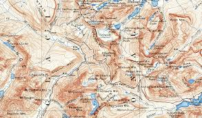 Map Of Glacier National Park Glacier National Park 1938 Usgs Topographical Map U2014 Purple Moose