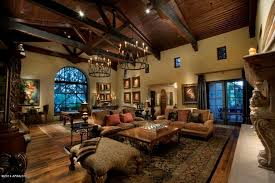 The Living Room Scottsdale Mediterranean Living Room With French Doors U0026 Exposed Beam In
