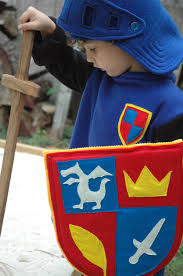 mike the knight inspired shield halloween costume halloween
