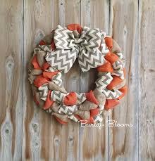 burlap wreaths chevron fall wreath autumn wreath burlap wreath rustic