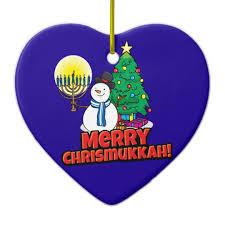chrismukkah decorations blue merry chrismukkah with snowman and menorah ceramic ornament