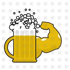 beer vector mug with big muscles strong beer vector clipart image 135520