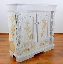 Cream Green Wooden Glass Wall Display Cabinet Shelf Unit Https