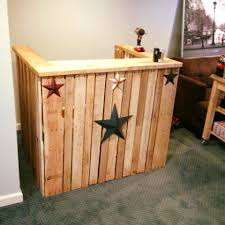 home bar decorations decor u shaped reclaimed wood pallet bar for attractive home bar