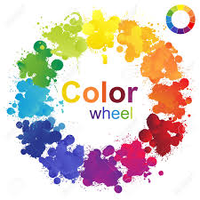 creative color wheel made from paint splashes royalty free