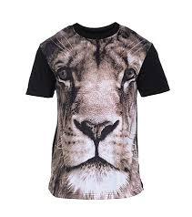 aura gold sublimation lion print tee black jimmy jazz f1341019