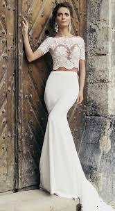 two wedding dress lace two wedding gown with bateau neckline rdevine fashion