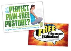 chiropractic postcards