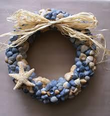 diy burlap white blossom tiny seashell wreath the depot this