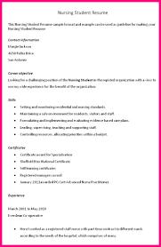 Sample Resume For Nursing Student by Sample Resume Of Nursing Student Wisermetal Ga
