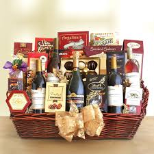 wine basket grand impressions gourmet wine party gift basket hayneedle