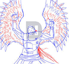how to draw michael the fallen angel step by step by darkonator