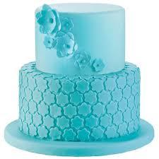 fondant cake blue blossoms fondant cake wilton