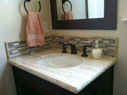 glass tile backsplash ideas bathroom travertine bathroom vanity countertop in travertino silver