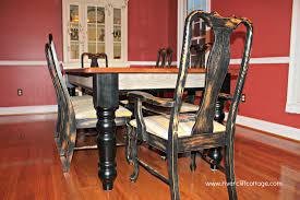 Distressed Kitchen Tables Chair Amazing How Much It Brightened Up My Dining Room When I