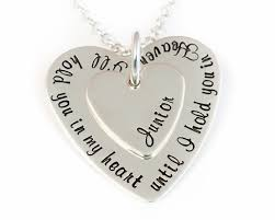 memorial necklace i ll hold you in my heart memorial necklace sterling silver