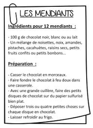 recette de cuisine ce1 recette de mendiants en cp la classe de fanette