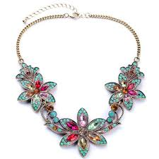 trendy flower necklace images 225 best colorfull statement necklace images jpg