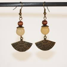 earrings japan fan land of the rising sun