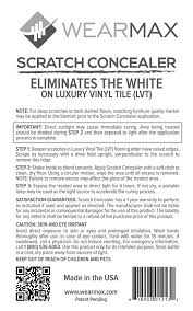 amazon com wearmax scratch concealer for luxury vinyl tile lvt