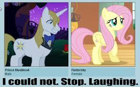 Pony Meme - 106667 blueshy fluttershy meme pony prince blueblood safe