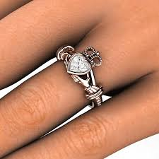 the claddagh ring diamond claddagh engagement or promise ring 14k or 18k gold