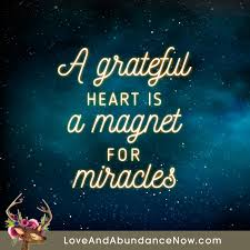 a grateful is a magnet for miracles grateful quotes