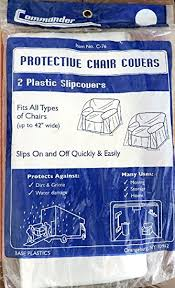 Clear Plastic Chair Covers Amazon Com 2 Pack Clear Plastic Protective Chair Covers Fits All