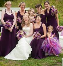 purple dress bridesmaid purple convertable bridesmaid dress set wrap dresses for