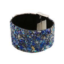 cuff bracelet with stone images Aziz bekkaoui fashion women jewelry wide bangle magnetic clasp jpg