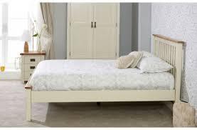 birlea new hampshire 5ft kingsize cream and oak wooden bed frame