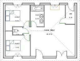 plan plain pied 2 chambres pavillon de plain pied en bois avec 2 chambres
