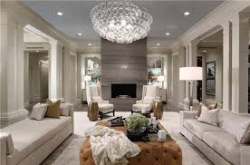livingroom soho living room with crown molding chandelier in boca raton fl