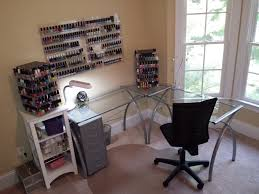 my current nail polish station at home more than 500 polishes