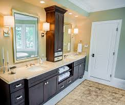 double sink vanity with middle tower entrancing 10 custom bathroom double vanities design inspiration of
