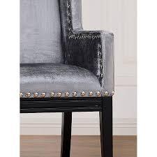 trinidad contemporary gray velvet chair collectic home