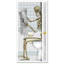 amazon com skeleton restroom door cover party accessory 1 count