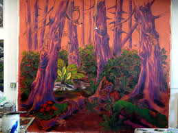 enchanted forest mural suzan marczak