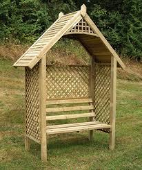 the grange somercote wooden garden arbour