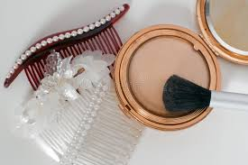antique hair combs antique hair combs and makeup compact stock photo image 17883528