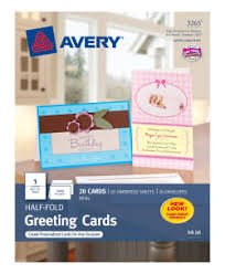 greeting cards avery