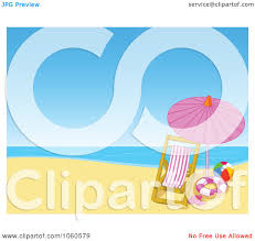 Clip On Umbrellas For Beach Chairs Royalty Free Vector Clip Art Illustration Of A Lounge Chair And