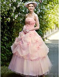 pink embroidered wedding dress ankle length wedding dresses search lightinthebox
