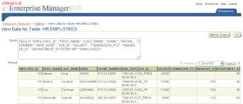 hr schema tables data 8 managing schema objects