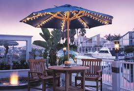 patio furniture large patio umbrella with lights solar led