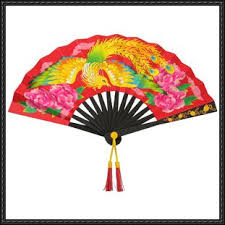 papercraft chinese fan free template download