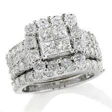 women s wedding bands white white gold 4 ct t w princess cut diamond frame