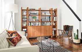 custom living room furniture custom addison bookcases with doors in cherry modern living room