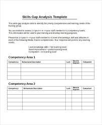 Gap Analysis Template Excel 16 Gap Analysis Template Free Sle Exle Format Free