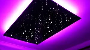 led star lights ceiling untrimmed fibre optic star ceiling panel youtube